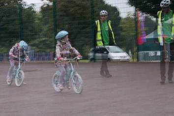 Cycling instruction, photo Jamie Scott