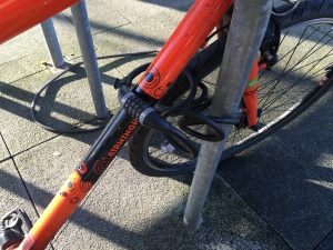 Front wheel locking