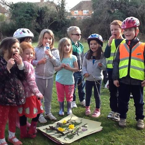 Easter egg hunt bike ride
